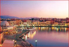 chania, crete, day goes, night comes Places Around The World, Oh The Places You'll Go, Great Places, Places To Travel, Places Ive Been, Around The Worlds, Chania Greece, Athens Greece, Safari