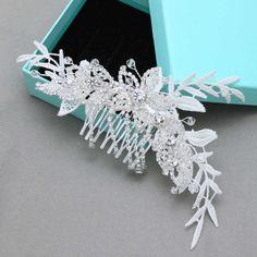 Ivory Bridal Fascinator Wedding Headpiece Leaves by BlingGarden