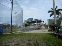 Flamingo Park Baseball Stadium in Miami Beach, FL.  Originally built in 1925.  Former home to various Miami Beach minor-league clubs and the spring training home of the New York Giants, Philadelphia Phillies the Pittsburgh Pirates in the 1930's and 40's and 50's.  The original ballpark sat 3,000, but was reconstructed by City of Miami Beach in 1967 to it's current configuration, which holds 535.  Visited on 4/5/12.  No ballgame.