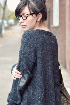 sweater with elbow pads