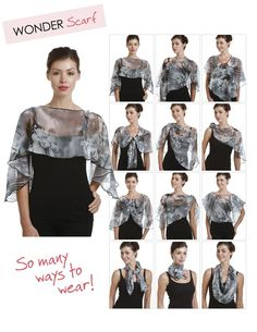 ways to wear an large square scarfs - Google Search