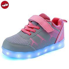 (Present:kleines Handtuch)Blau EU 27, Athletische Kinder Schuhe Bunte mit JUNGLEST® USB M?dchen mode Fl?¹gel mit Sneakers
