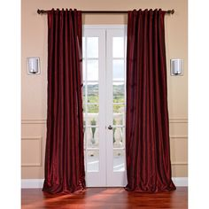 Ruby Vintage Faux Textured Dupioni Silk Curtain Panel   Overstock™ Shopping - Great Deals on EFF Curtains