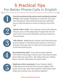 Learn tips for speaking clearly on the phone in English. This skill greatly benefits your career if you live or work with English speakers.