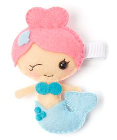 Take a look at this Blue & Pink Mermaid Felt Clip today!