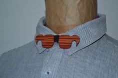 """Noeud papillon """"lunettes"""" en bois de Rose : Echarpe, foulard, cravate par…"""