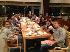 GPDA dinner in Korea. Some F1 bonding  (from Daniel Ricciardo)    Right: Nico. Felipe. Sebastian. Sergio. Bruno. Pedro. Mark. Jenson. Paul. Romain.    Left: Timo. Kamui. Daniel. Nico. Dani. Lewis. Pastor. Jean. Fernando
