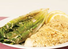 Pan-roasted Chicken Caesar Salad: Pounding chicken breasts flat speeds up cooking time and ensures even baking. Wrap your chicken in plastic wrap or a resealable plastic bag and gently pound it with anything from a meat pounder, to a rolling pin to the palm of your hand.