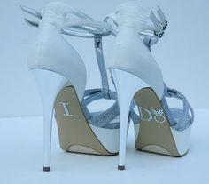 Unik Occasions Crystal Rhinestone I Do Wedding Ring Shoe Stickers, Clear