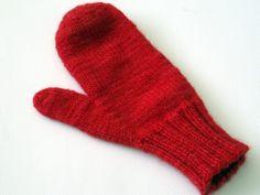 Red mittens.