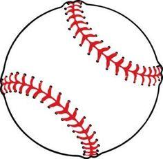 Baseball clip art - vector clip art online, royalty free & public domain Baseball Birthday, Baseball Party, Baseball Games, Baseball Mom, Baseball Buckets, Baseball Season, Baseball Quilt, Baseball Players, Baseball Equipment