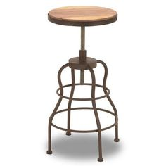 Find it at the Foundary - Metal and Wood Bar Chair - 31 x 16 in.