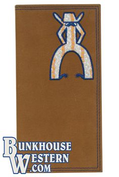 Deer Whitetail Buck Embossed Brown//Tan Leather Checkbook Cover with Gift Tin