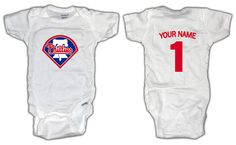 Baseball Philadelphia Phillies ONESIE with by LilOnesBabyBoutique, $17.99