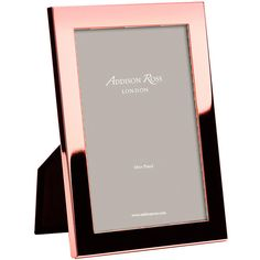 "Addison Ross Rose Gold Photo Frame - 8x10"" ($34) ❤ liked on Polyvore featuring home, home decor, frames, metallic, 8x10 frames and 8x10 picture frames"