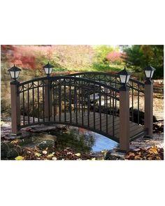Sunjoy Garden Bridge: Sunjoy Steel and Faux Wood Bridge from Target   BHG.com Shop