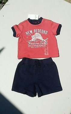 Infant baby boys size 3 months 2pc short and tee set Ralph Lauren bnwt