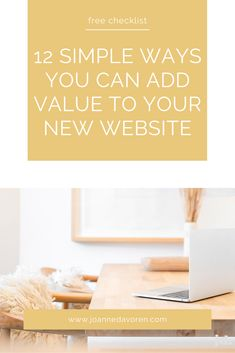 In this short and sweet checklist you will find 12 simple ways you can add more value to your website. Email Form, Free Website, Simple Way, Online Business, Create Yourself, Web Design, How To Plan, Sweet, Design Web