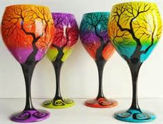Yahoo! Image Search Results for painted wine glasses