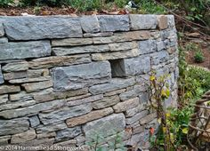Hooper's Creek stone - tightly stacked, well coursed, nice color blend