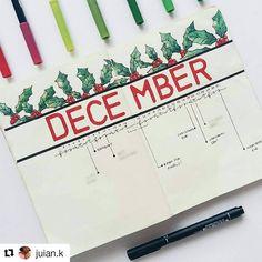 1,617 vind-ik-leuks, 6 reacties - Bullet Journal Inspire  (@bujoinspire) op Instagram: '#Repost @juian.k (@get_repost) ・・・ It's the most beautiful time of the year. First day of December!'
