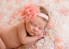 Large peach chiffon and lace flower by DanicasChicBowtique on Etsy, $9.95