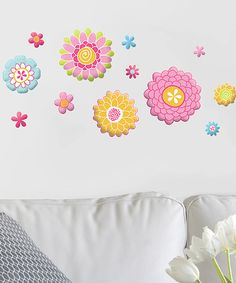 Take a look at this GlitterPuff Flowers Wall Decal Set by Lot 26 Studio on #zulily today!