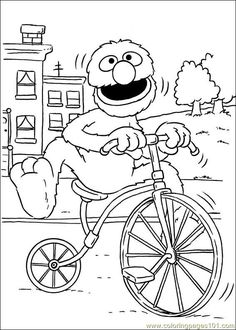 The 97 best sesame street colouring pages images on Pinterest ...