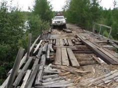 DANGEROUS ROAD BRIDGE Siberia Russia - Toyota Land Cruiser 200 V8