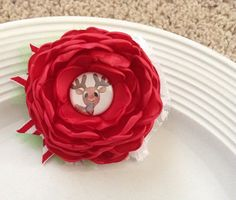 Black Friday sale Rudolph Flower by JensBowdaciousBows on Etsy