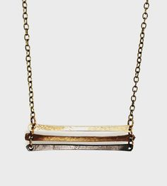Short Ombre Ladder Necklace | Delicate, with just the right amount of edge, this ladder styl... | Necklaces