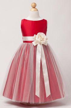 60 red flower girl dresses ideas 53 - Beauty of Wedding Red Flower Girl Dresses, Tulle Flower Girl, Cute Girl Dresses, Little Girl Dresses, Girl Outfits, Tutu, Dress Anak, Girls Dresses Online, Dress Online