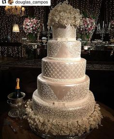 The Basics Of A Wedding Sand Ceremony Big Wedding Cakes, Elegant Wedding Cakes, Beautiful Wedding Cakes, Gorgeous Cakes, Wedding Cake Designs, Pretty Cakes, Dream Wedding, Wedding Day, Cake Art