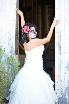 Dia de los Muertos day of the dead wedding bride