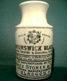 Very Ornate Eagle Brand Brunswick Black-James Storer of Glasgow c1910