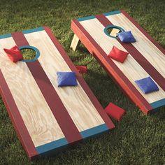 Wurfspiel Bauanleitung - Sackloch-Wurfspiel aus Holz