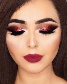 #makeup #red  Maquillaje fiesta tonos cobrizos