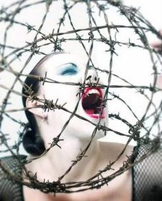 WRATH..............................Seven deadly Sins  barbed wire, I dig it.