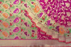 Shivangi Kasliwaal Handwoven Benarasi Katan Silk Sari 1021092 - Brands / Saris / Shivangi Kasliwaal - Parisera