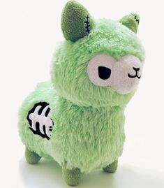 Our super cute and creepy Zombie Alpaca Plush by Tasty Peach Studios Alpacas, Toy Art, Tasty Peach Studios, Tier Zoo, Cute Stuffed Animals, Llama Stuffed Animal, Cute Plush, Cute Toys, Minions