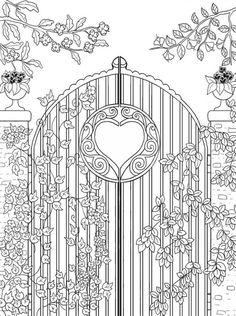 Freebie: Garden Gate Coloring Page (Craft Gossip)