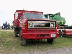 Nice red Chevy grain truck