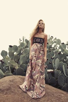 BRIONYMARSH//STYLE Beaded strapless maxi dress The Leila Dress Bohemian style Summer 11 www.brionymarsh.com