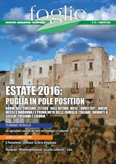 FOGLIE n.14/2016  AGRICOLTURA AGROALIMENTARE TURISMO RURALE