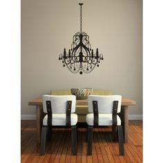 Ceiling Chandelier Candle Old Fashioned Wall Stickers Art Decal