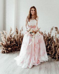 On Trend: 12 Bridal Separates - Breaking The Rules ❤ breaking the rules bridal separates lace top colored skirt sweet caroline styles #weddingforward #wedding #bride #weddingoutfit #bridaloutfit #weddinggown