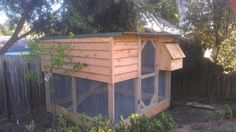 Cypress 2 Tiered chicken house designed built by Yummy Gardens Melbourne