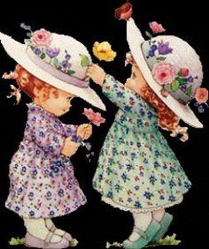 sac sarah key - f comme fifou Sarah Key, Holly Hobbie, Blog Crochet, Cute Kids Pics, Decoupage Vintage, Dear Mom, Cartoon Gifs, Creative Pictures, Cute Illustration