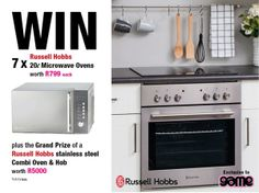Win a microwave a day PLUS a grand prize oven worth with Russell Hobbs