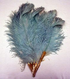 Fan 1920, European, Made of feathers